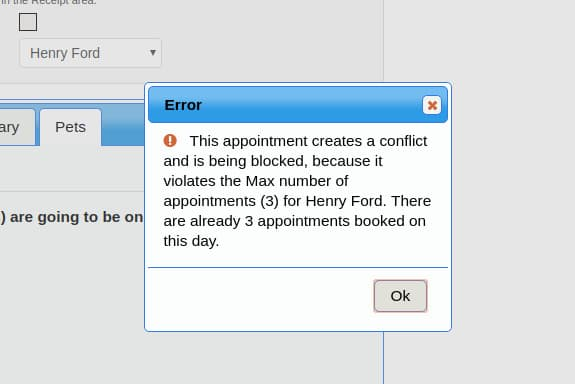 Max conflict blocked warning.
