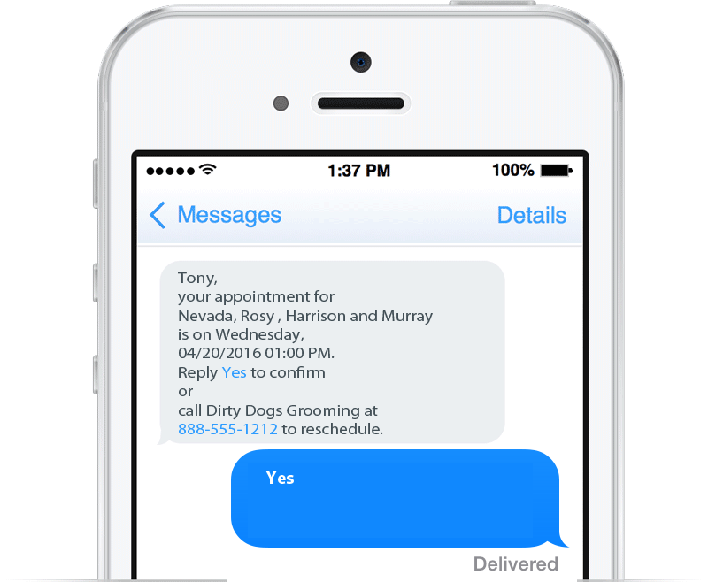 Reducing Grooming No Shows with Text Message Appointment Reminders